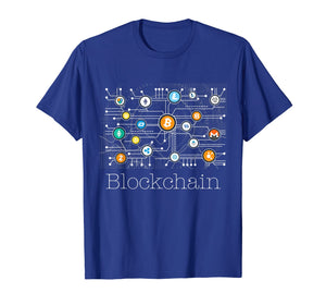 Blockchain Cryptocurrency T-shirt BitCoin Crypto BTC Gift