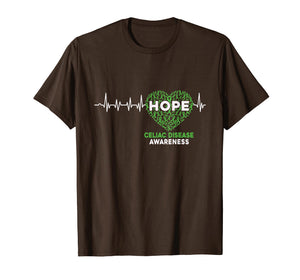 Celiac Disease Awareness Support Hope Heartbeat T shirts