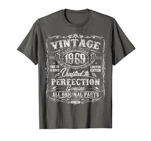 Classic 50th birthday gift Vintage 1969 tshirt for men women