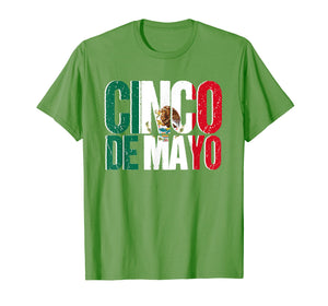Mexican Flag Cinco De Mayo T-Shirt for Adults