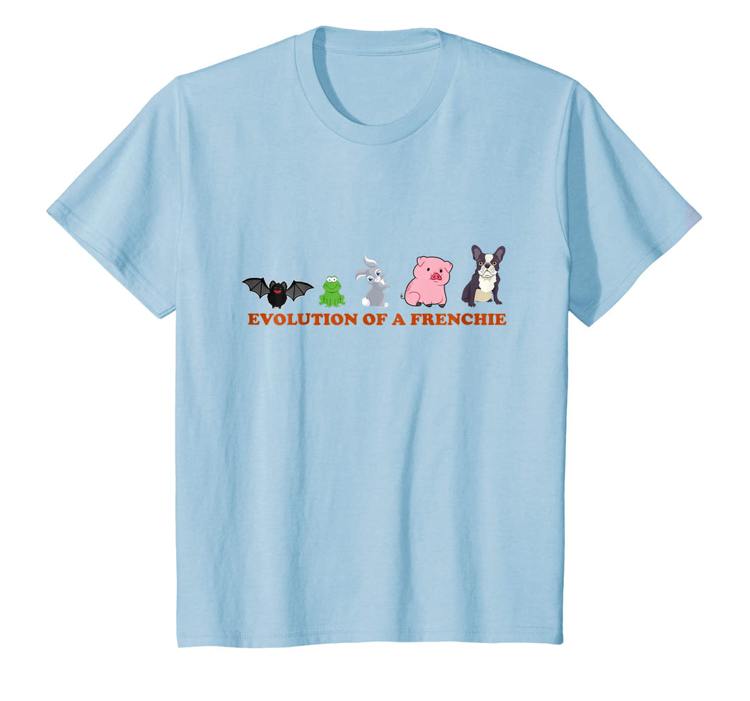 Evolution of A Frenchie t-Shirt Funny French Bulldog T-shirt