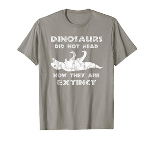 Dinosaurs Didn't Read TShirt - Funny I Love To Read Shirts