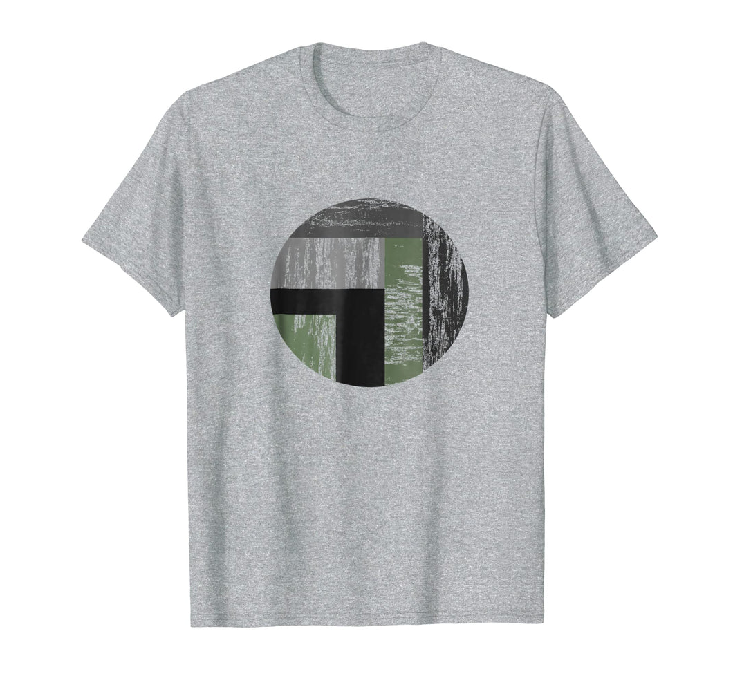 Distressed Segmented Circle No Words Just Graphic T-shirt