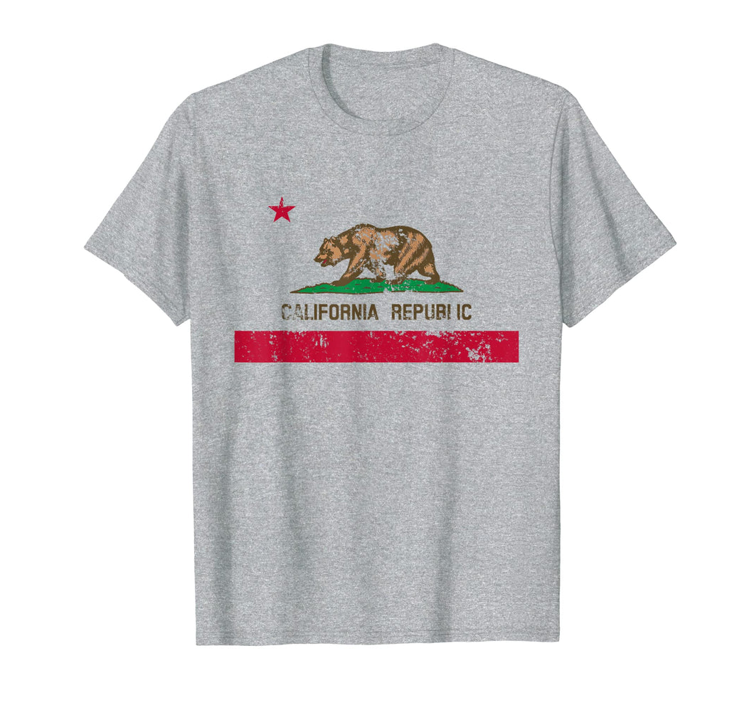 California State Flag TShirt Distressed CA Flags Gift Tee T-Shirt