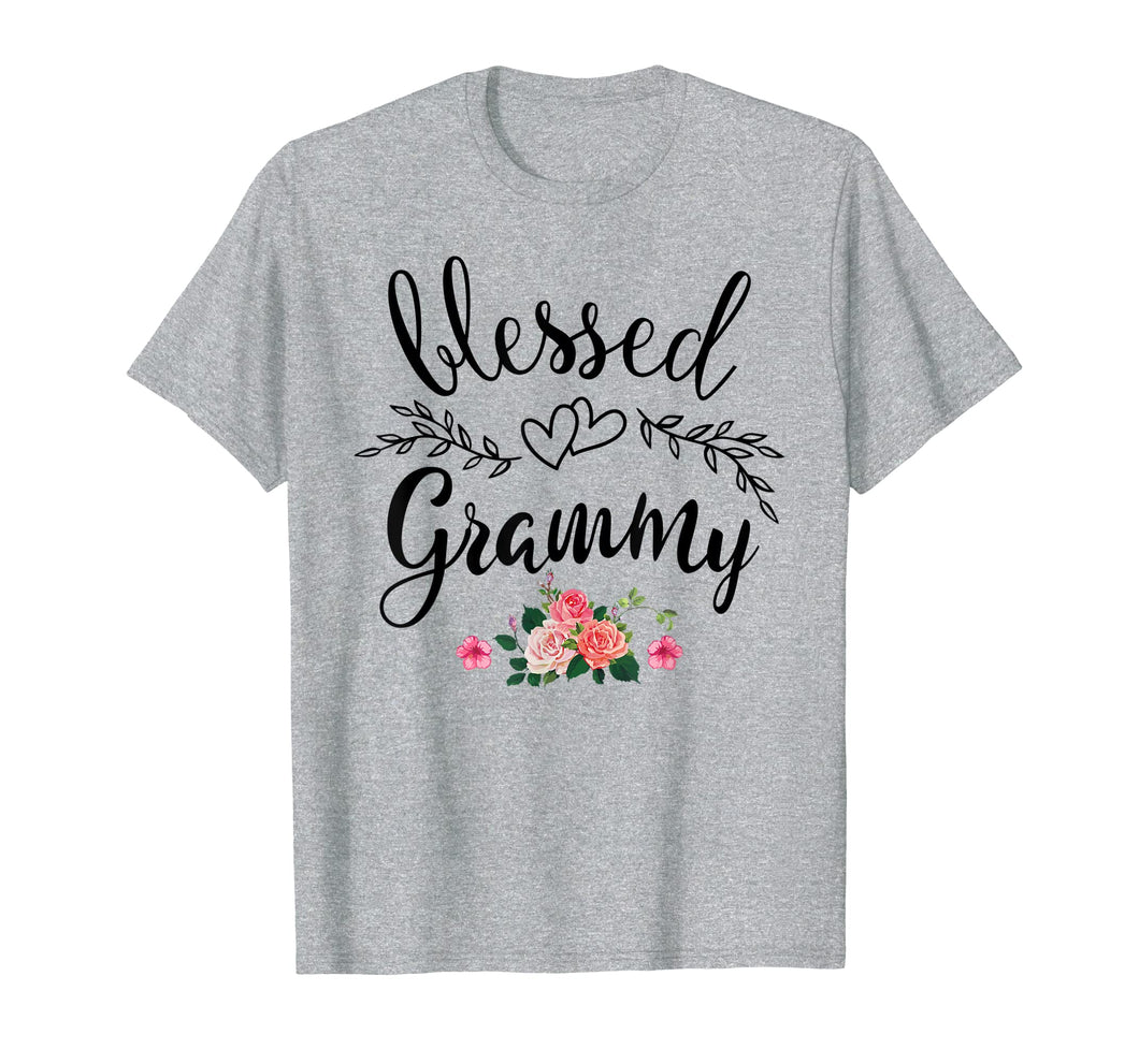 Blessed Grammy Shirt Grandma with floral Mother's Day T-Shirt