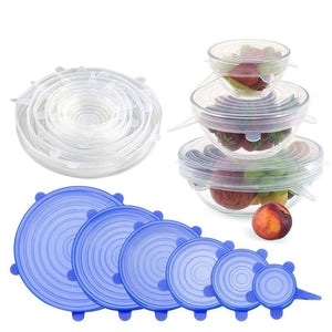 Reusable Silicone Stretch Lids - Set of 6