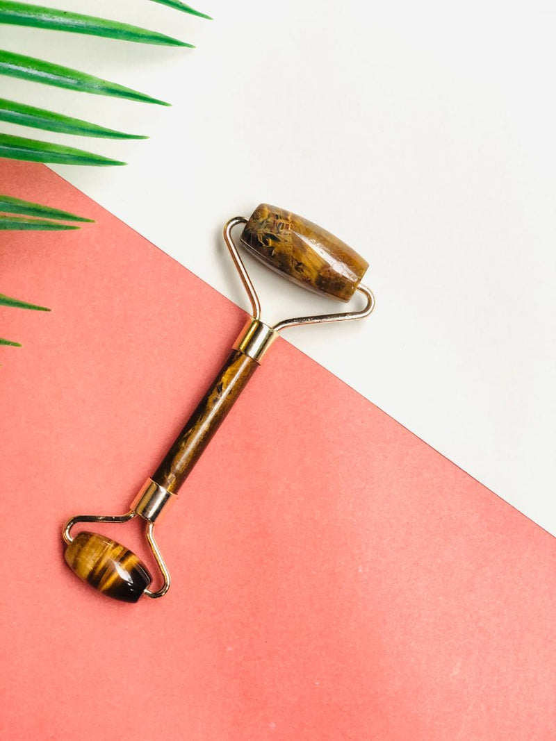 Natural Tiger Eye Jade Facial Roller