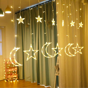 LED Star & Moon Curtain Lights