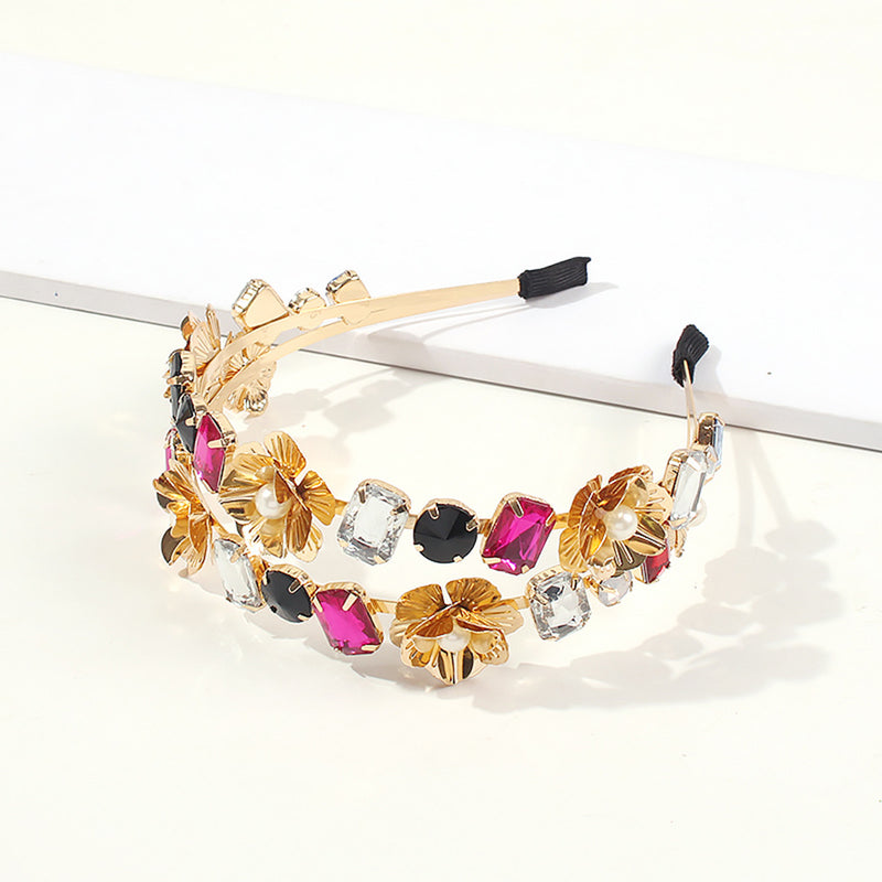 Flower Power Crystal Hair Band