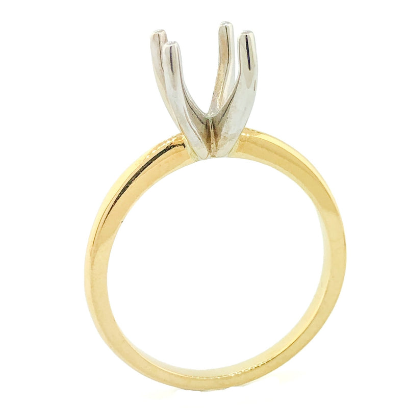14 k TT Solitaire Engagement Ring Mount. - Walter Bauman Jewelers