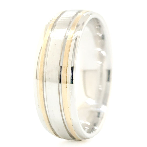 14K TT Wedding Band - Walter Bauman Jewelers
