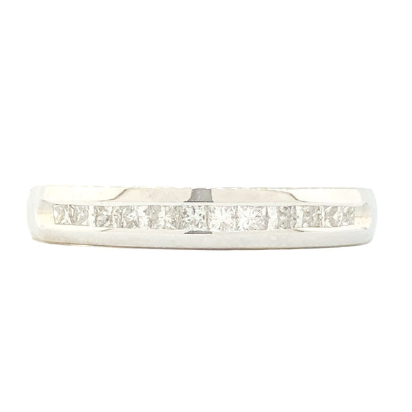 14K WG .25cttw Princess Diamond Band - Walter Bauman Jewelers