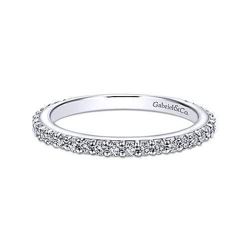 14K WG .38cttw Ladies Diamond Band - Walter Bauman Jewelers