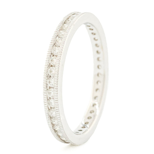 14K WG .50cttw Diamond Eternity Band - Walter Bauman Jewelers