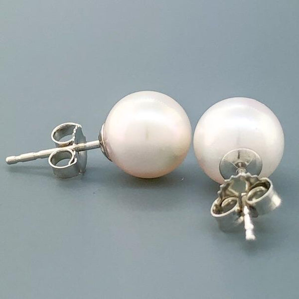 14K WG 8.00-8.50mm Pearl Stud Earrings - Walter Bauman Jewelers