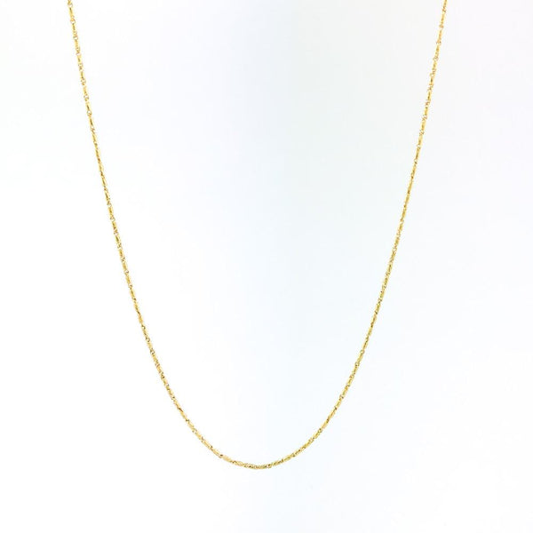 "14k Yellow gold 18"" Raso chain - Walter Bauman Jewelers"