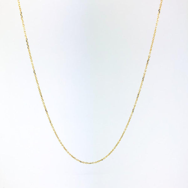 "14K Yellow gold 20"" cable chain 040 - Walter Bauman Jewelers"