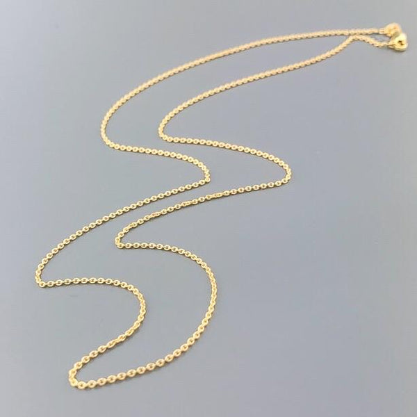 "14K YG 18"" Cable Chain with Lobster Clasp - Walter Bauman Jewelers"