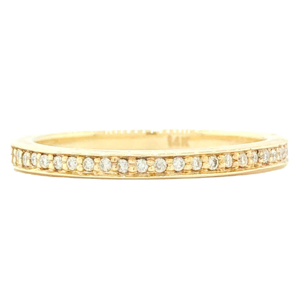 14K YG .20cttw Diamond Band - Walter Bauman Jewelers