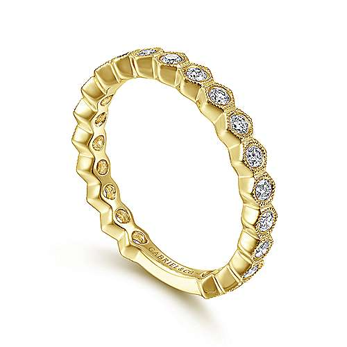 14K YG .44cttw Ladies Diamond Band - Walter Bauman Jewelers