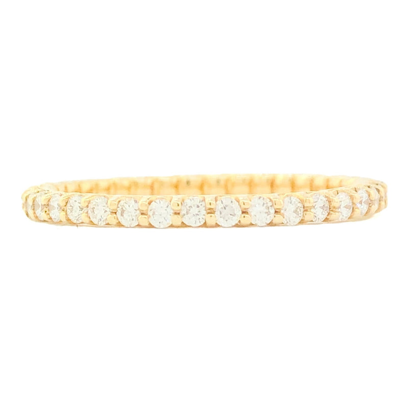 14K YG .50cttw Diamond Eternity Band - Walter Bauman Jewelers