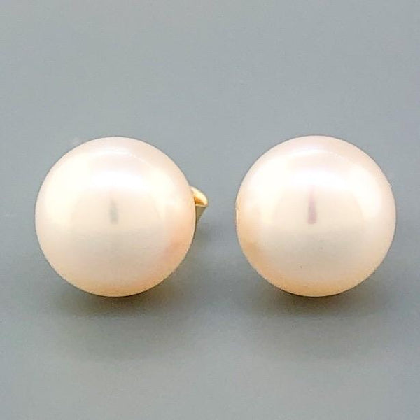 14K YG 7.00-7.5mm Pearl Stud Earrings - Walter Bauman Jewelers