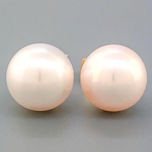 14K YG 8.00-8.50mm Pearl Stud Earrings - Walter Bauman Jewelers