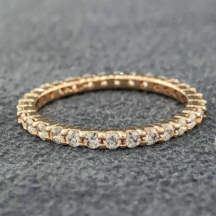 14KR 0.78cttw Diamond Eternity Band - Walter Bauman Jewelers