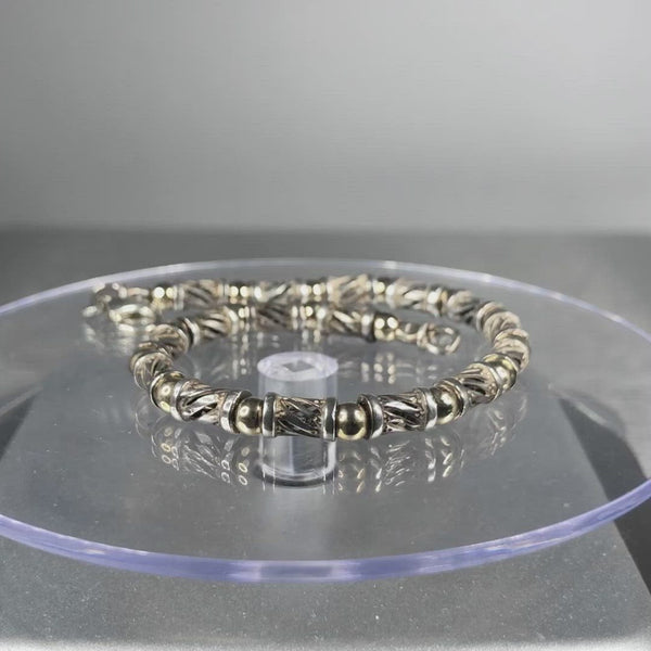 Estate Sterling Silver & Vermeil Bracelet