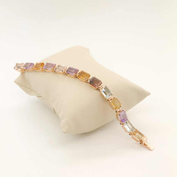 Estate 18rg Colored Stone Bracelet