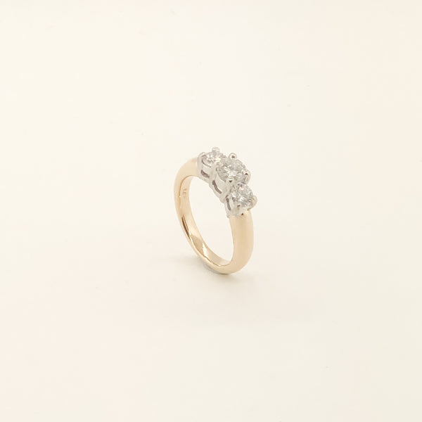 Estate 14kyg Diamond 3 Stone Ring 1.00 CTTW On Sale Now