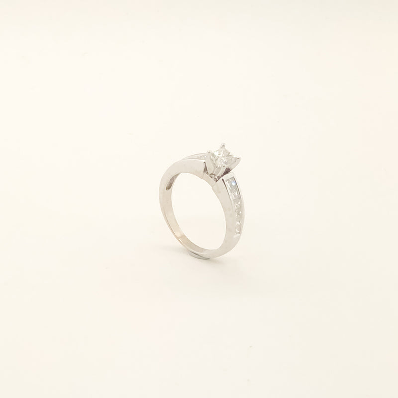 Estate 14kwg Diamond Engagement Ring On Sale Now