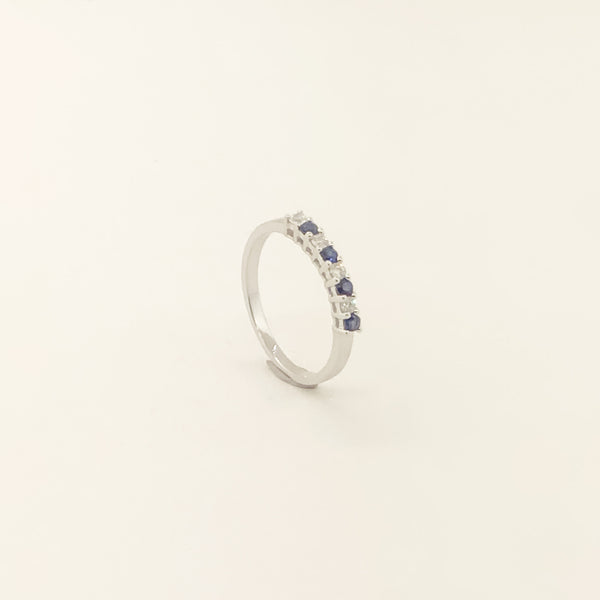 Estate 14kwg Sapphire & Diamond Ring