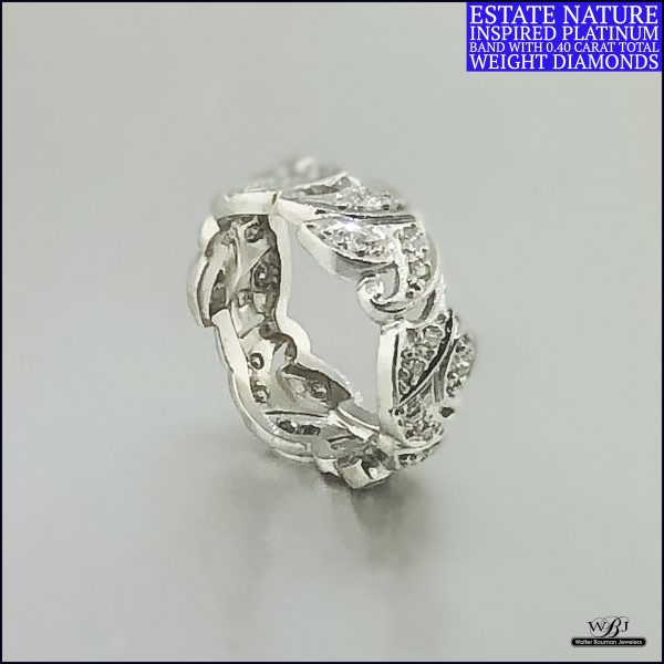 Estate Platinum Diamond Band