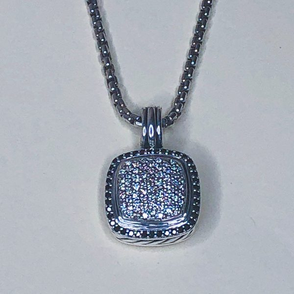 Estate David Yurman Black & White Diamond Necklace