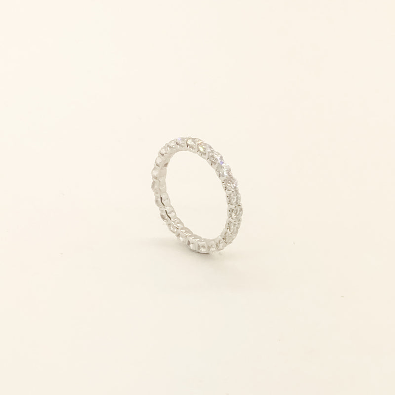 18kwg & Diamond Eternity Band 3cttw On Sale Now