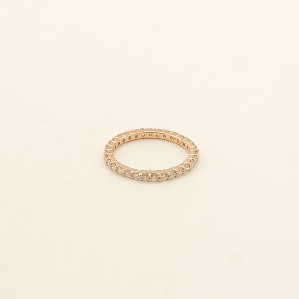 14kt Rose Gold & Diamond Eternity Band .78cttw On Sale Now
