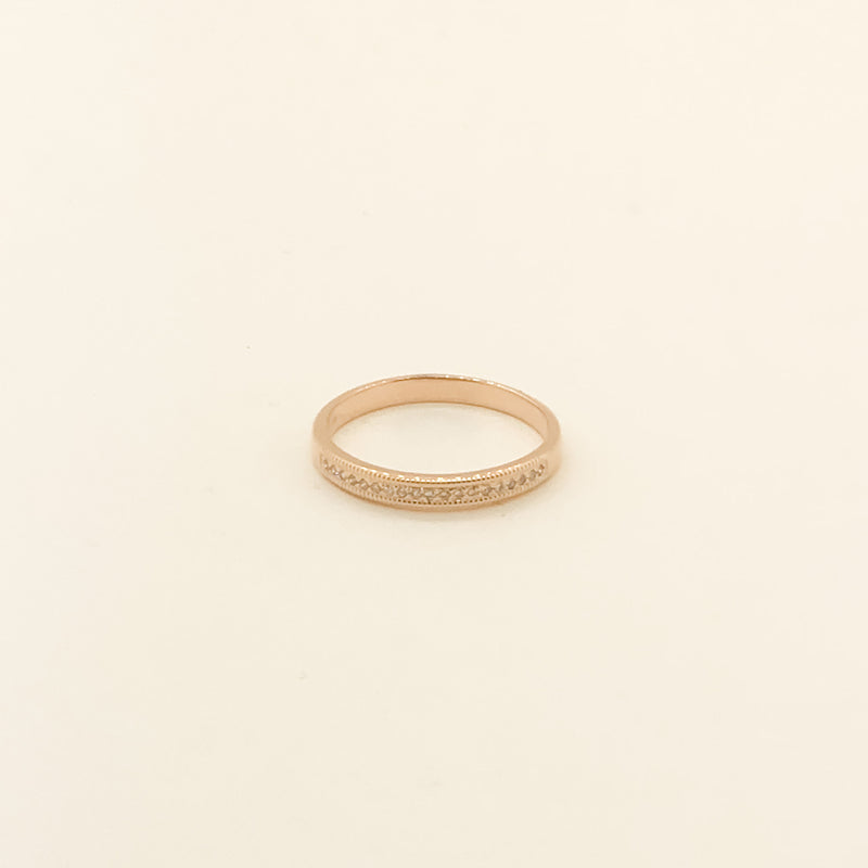 14kt Rose Gold & Diamond Wedding Band .10cttw On Sale Now