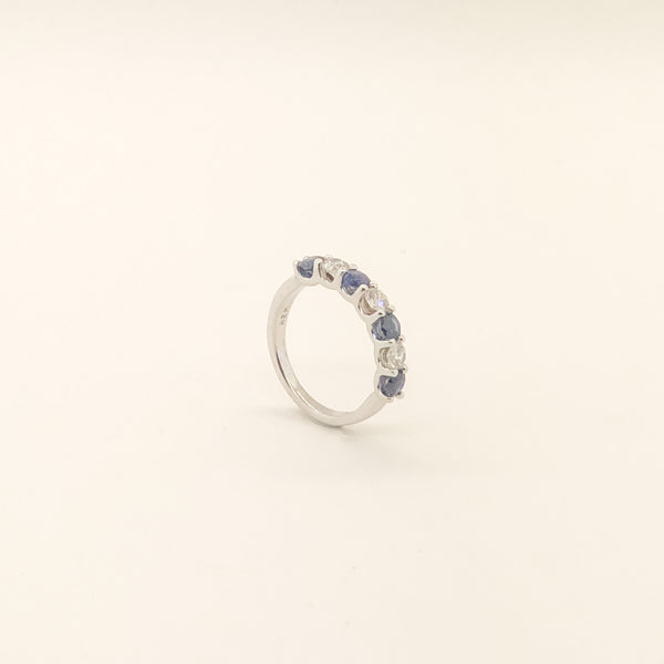 14kwg, Sapphire & Diamond Band On Sale Now