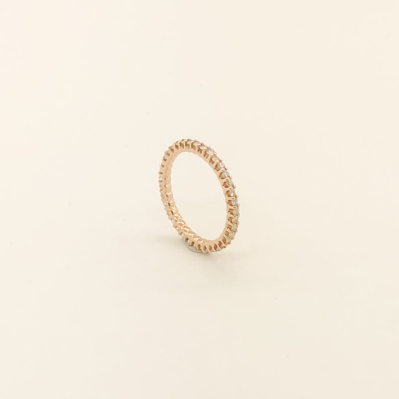 14k Rose Gold & Diamond Eternity Band .50cttw On Sale Now