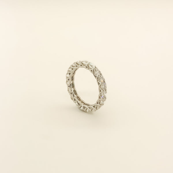New Platinum & Diamond Eternity Band 3.34cttw On Sale Now