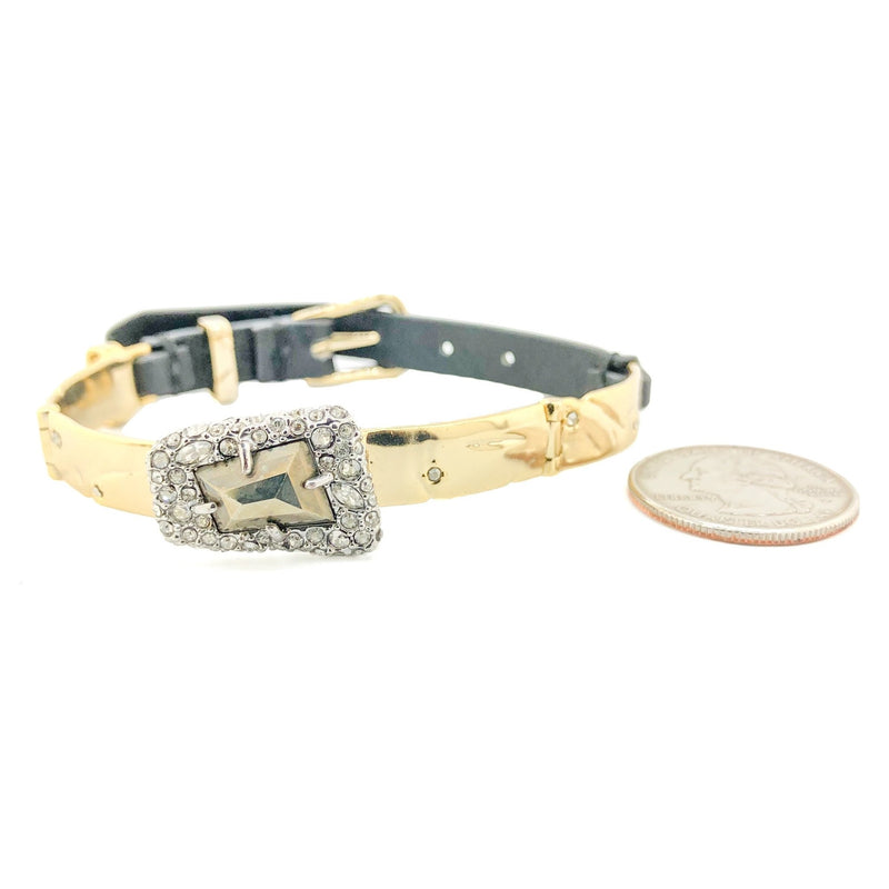 Alexis Bittar GP & Leather Crystal Bracelet - Walter Bauman Jewelers