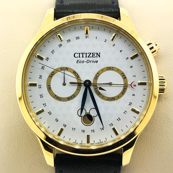 Citizen Eco-Drive Gold-Plated Disney Watch - AP1058-11W - Walter Bauman Jewelers