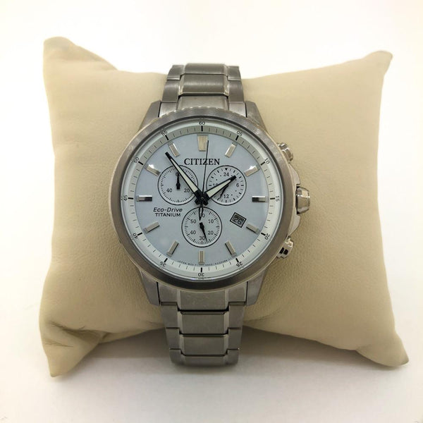 Citizen Men's Eco-Drive Titanium Watch - AT2340-56A - Walter Bauman Jewelers