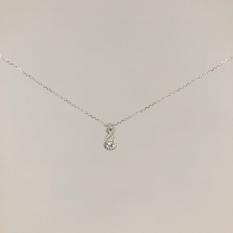 Estate 14k 0.19cttw diamond necklace - Walter Bauman Jewelers