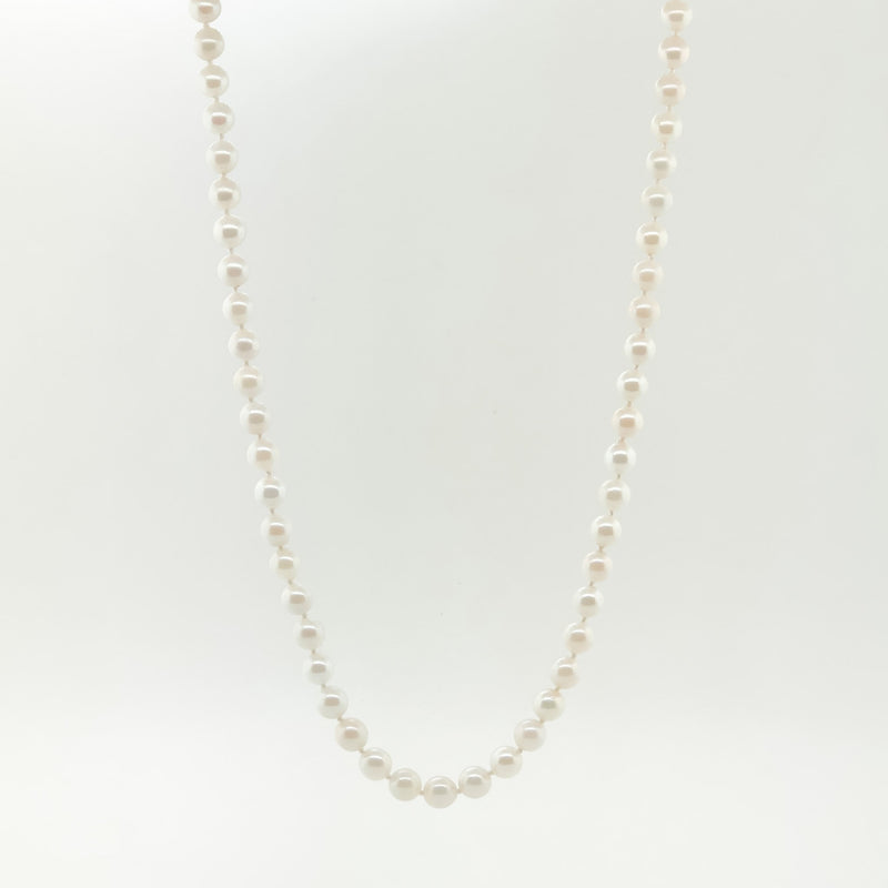 Estate 14k Pearl Necklace - Walter Bauman Jewelers