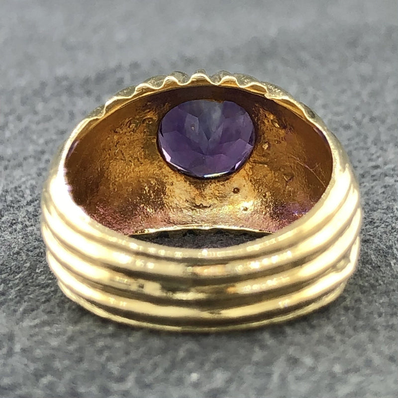 Estate 14k YG Amethyst Ring - Walter Bauman Jewelers