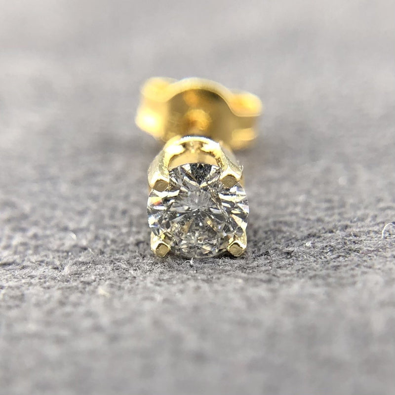 Estate 14kyg Single 0.27ct I-J/SI Diamond Stud - Walter Bauman Jewelers