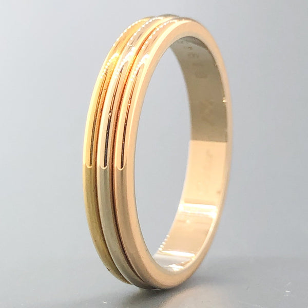 Estate 18k Tri-color Cartier 1988 Trinity Band - Walter Bauman Jewelers