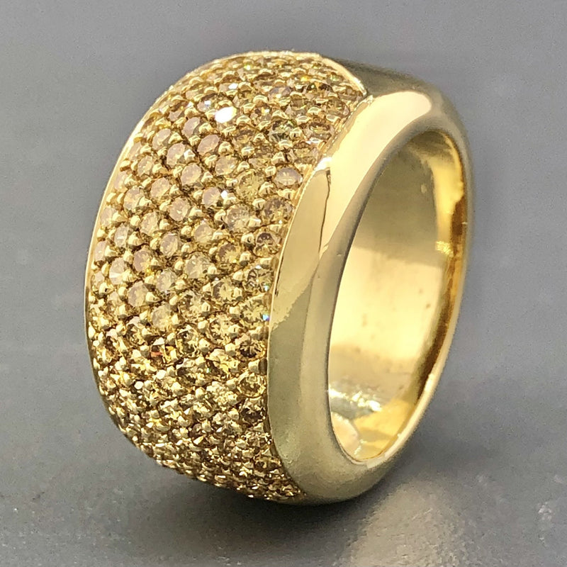 Estate 18k Yellow Gold 2.75cttw Fancy Yellow Diamond Ring - Walter Bauman Jewelers